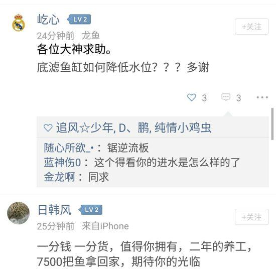 #BUG提交#第一点:点赞和评论的图标太小了,经常点不到。第二点:评论玩了要发表 温州水族批发市场